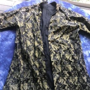Vintage 1950s Chinese robe dragons